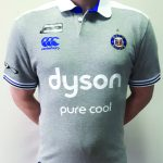 BATH rugby polo – siva